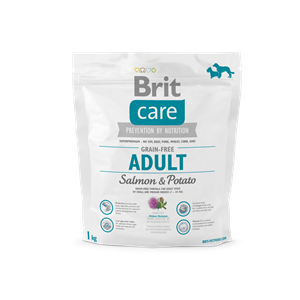 BRIT DOG CARE GRAIN FREE ADULT SALMON&POTATO 1KG