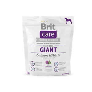 BRIT DOG CARE GRAIN FREE AD. GIANT SALMON&POT 1KG